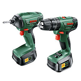 Bosch 2.0Ah Li-Ion Drill & Driver Twin Pack