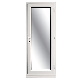 White PVCu Fully Glazed Back Door & Frame