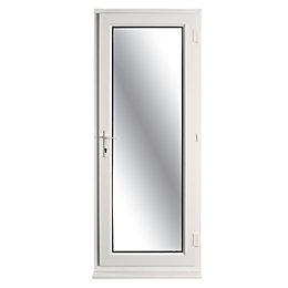 White PVCu Fully Glazed Back Door & Frame
