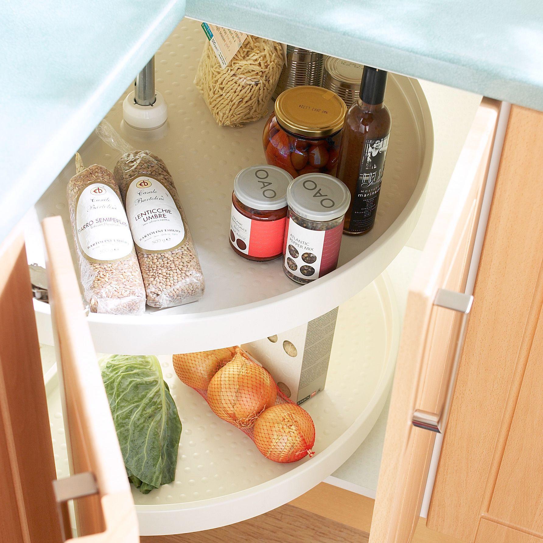 It Kitchens White Plastic Corner Carousel