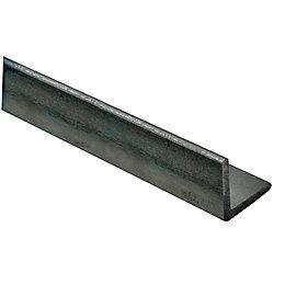 Varnished Steel Corner (H)30mm (W)30mm (L)1m