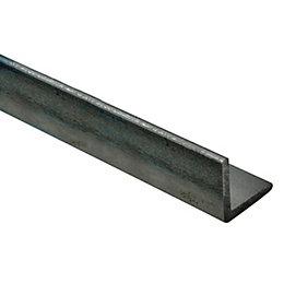Varnished Steel Corner (H)15mm (W)15mm (L)1m