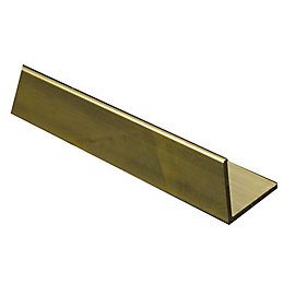 Brass Corner (H)10mm (W)10mm (L)1m