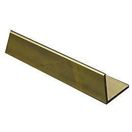 Brass Corner (H)10mm (W)10mm (L)1m