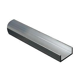 Aluminium U Profile (H)15mm (W)15mm (L)2m