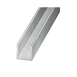 Aluminium U Profile (H)10mm (W)20mm (L)1m