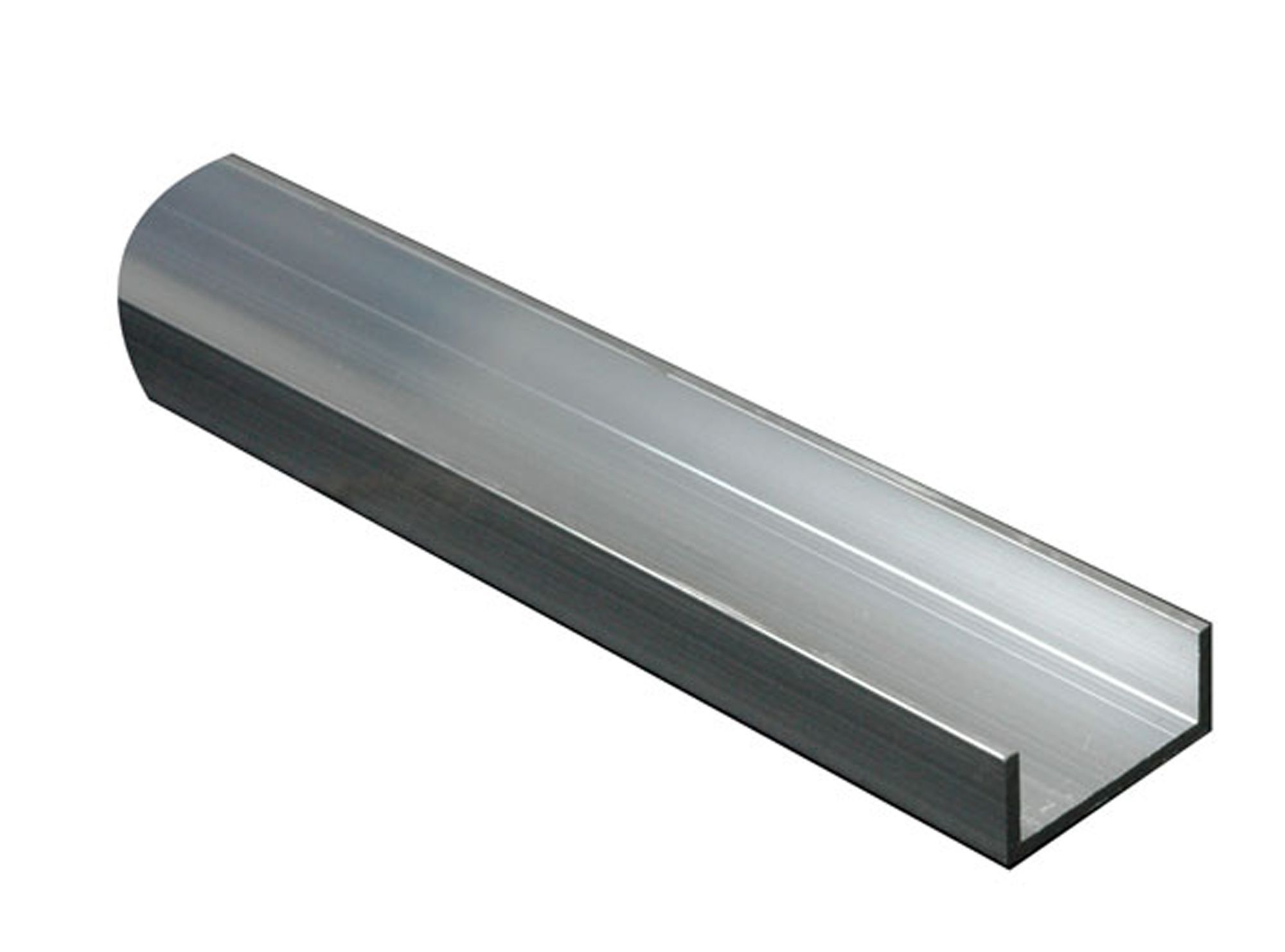 Aluminium U Profile H 15mm W 15mm L 1m Departments
