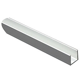 Anodised Aluminium U Profile (H)15mm (W)15mm (L)1m