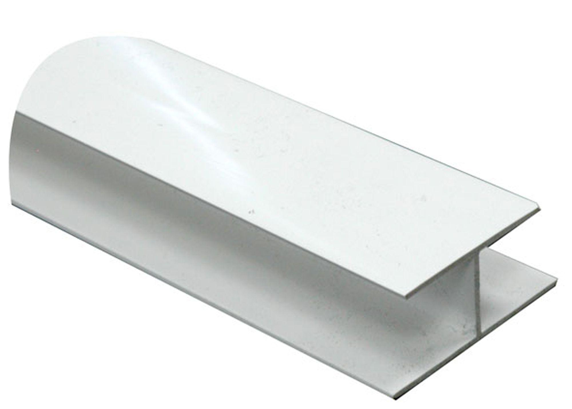 white pvc h profile h 15mm w 16mm l 1m departments. Black Bedroom Furniture Sets. Home Design Ideas
