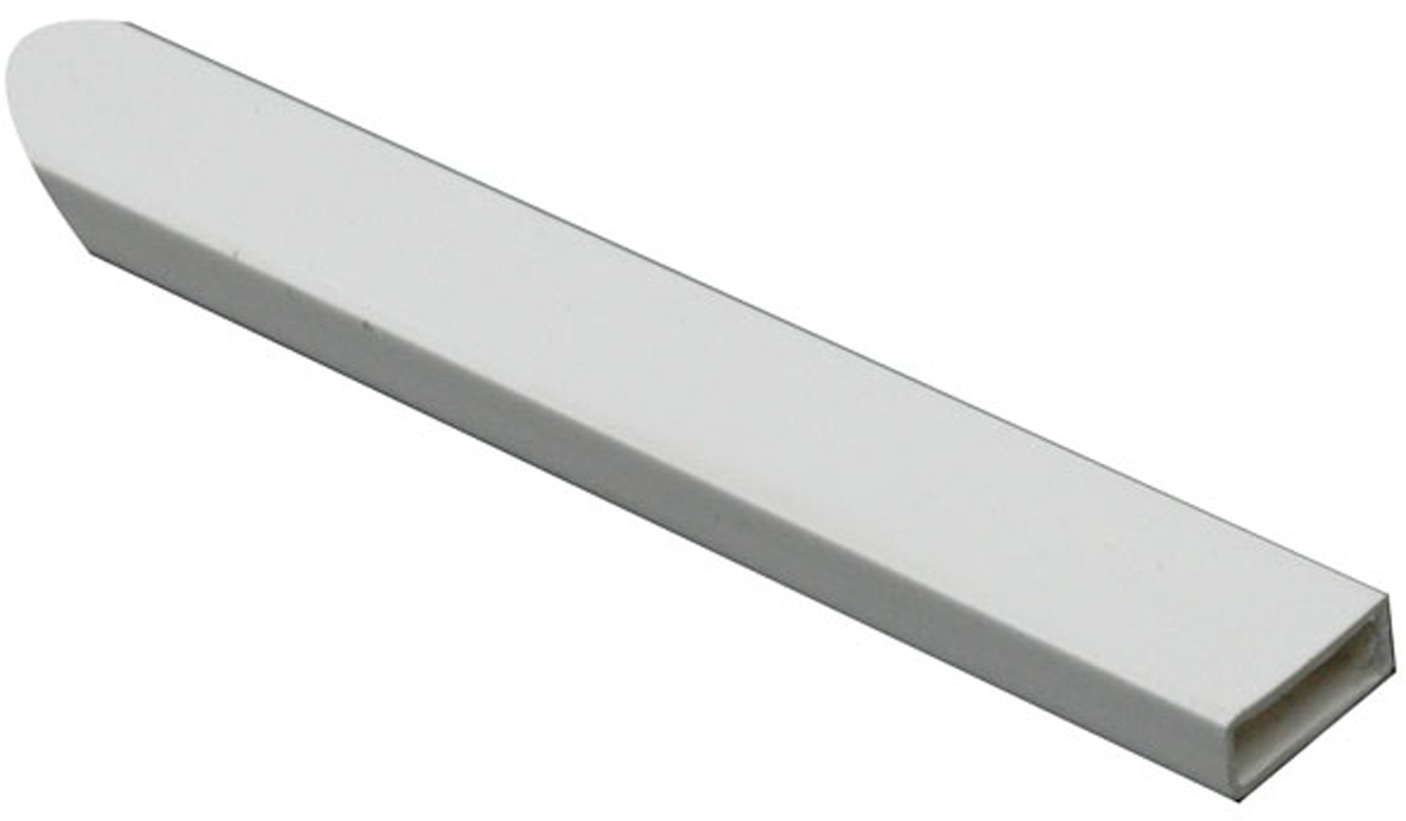 Ffa concept white pvc rectangular tube w mm l m