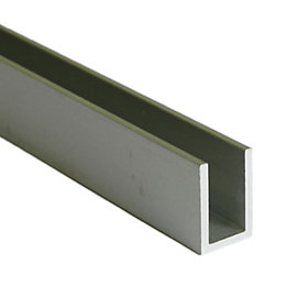 Aluminium U Channel (W)15mm (L)1m
