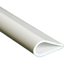 White Plastic Leaf Binder (W)15mm (L)1m