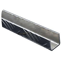 Aluminium U Profile (H)25mm (W)25mm (L)2m