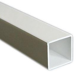 Plastic Square Tube, (W)20mm (L)1m
