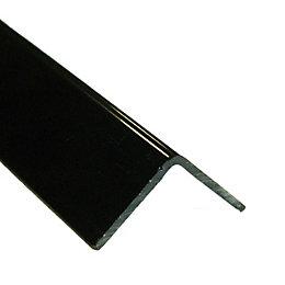 Gloss Black Plastic Corner Protector (W)20mm (L)2m