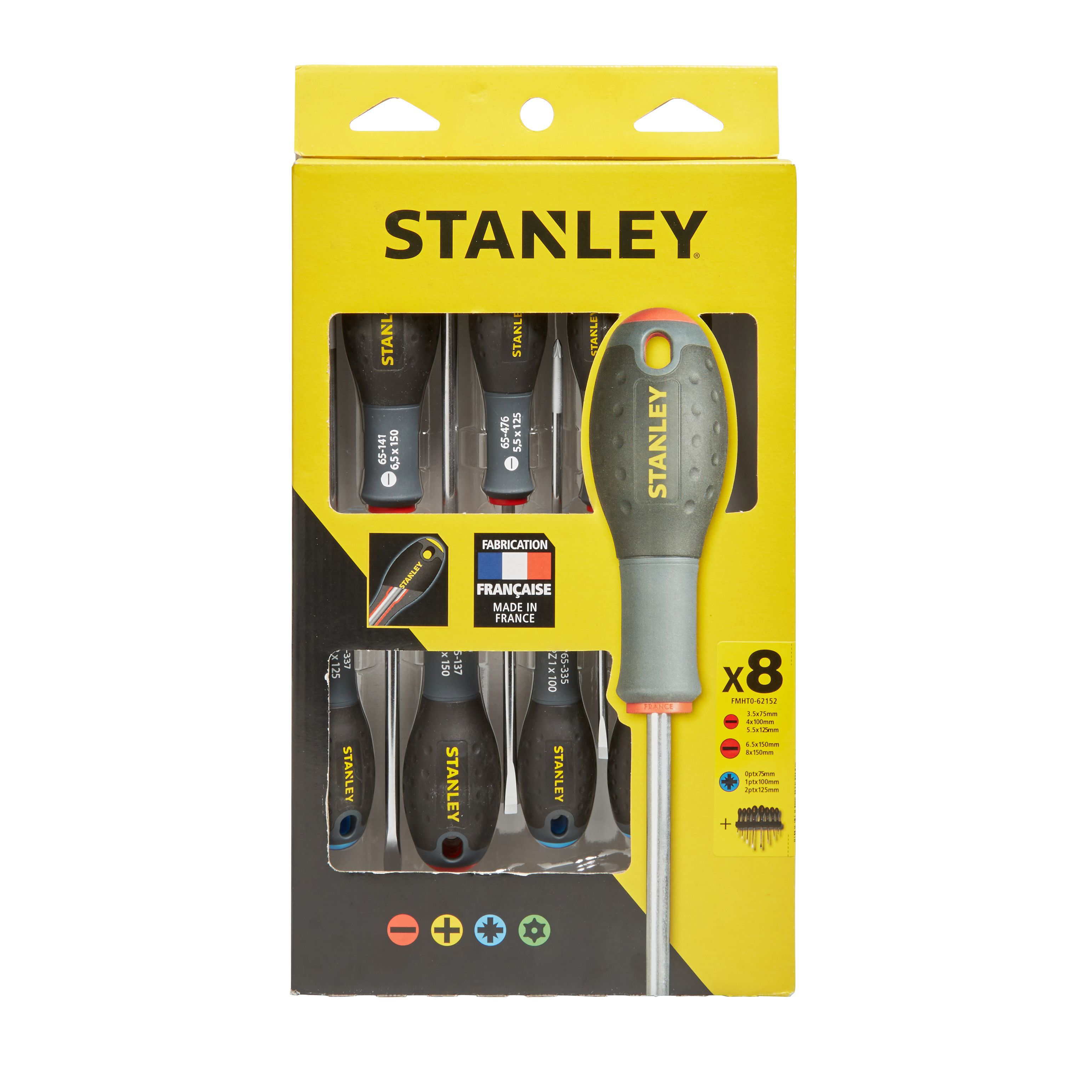 stanley fatmax 8 piece multi screwdriver set departments diy at b q. Black Bedroom Furniture Sets. Home Design Ideas