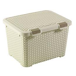 Curver Vintage White 43L Plastic Storage Trunk