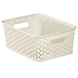 Curver My Style White 8L Plastic Storage Basket