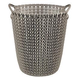 Curver Knit Effect Harvest Brown Plastic Circular Paper