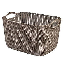 Curver Knit Collection Harvest Brown 19L Plastic Storage