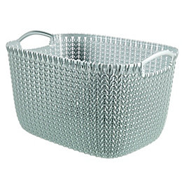Curver Knit Collection Misty Blue 19L Plastic Storage