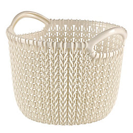 Curver Knit Collection Oasis White 3L Plastic Round