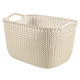Curver Knit Collection Oasis White 8L Plastic Storage