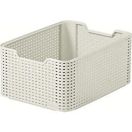 Curver Vintage White Rattan Effect Storage Basket