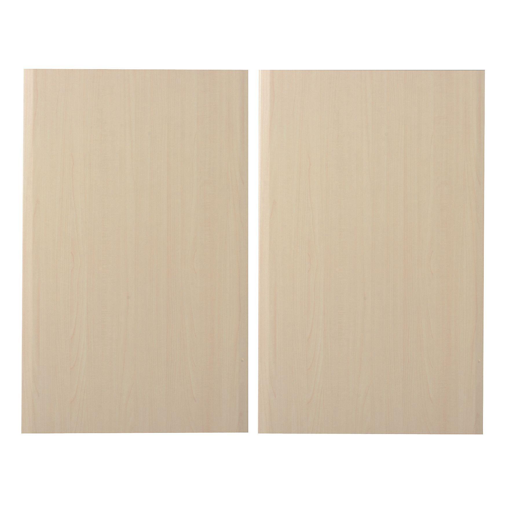 It Kitchens Sandford Maple Effect Modern Larder Door (w)600mm, Set Of 2