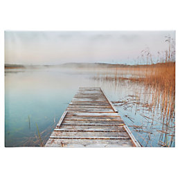 Grass Jetty Neutral Canvas (W)65cm (H)45cm