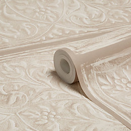 Muriva Ornate Panels Taupe Wallpaper