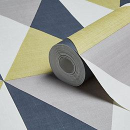 Muriva Rhombus Geometric Wallpaper