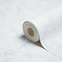 Muriva Marble White Wallpaper