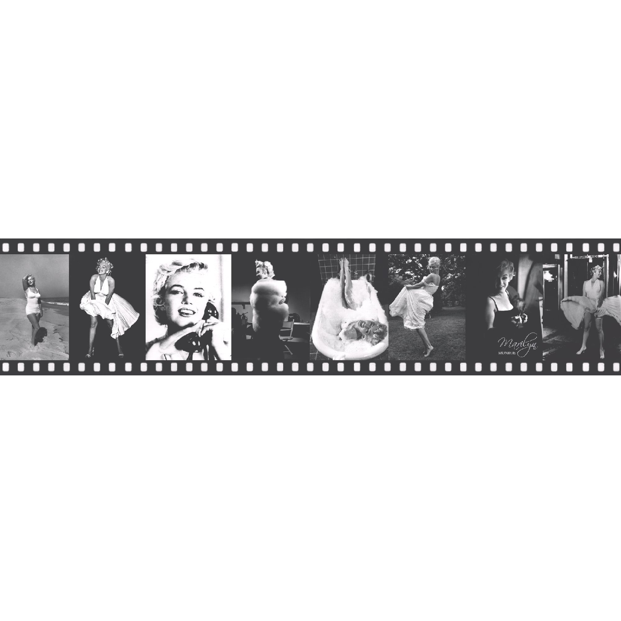 Lutece Marylin Monroe Black amp White Film Strip Border