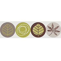 Lutece Circle Leaf Multicolour Border
