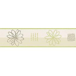 Lutece Spiral Flower Green Floral Border