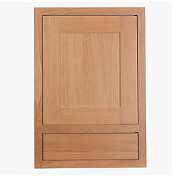 Cooke & Lewis Carisbrooke Oak Framed Drawerline Door