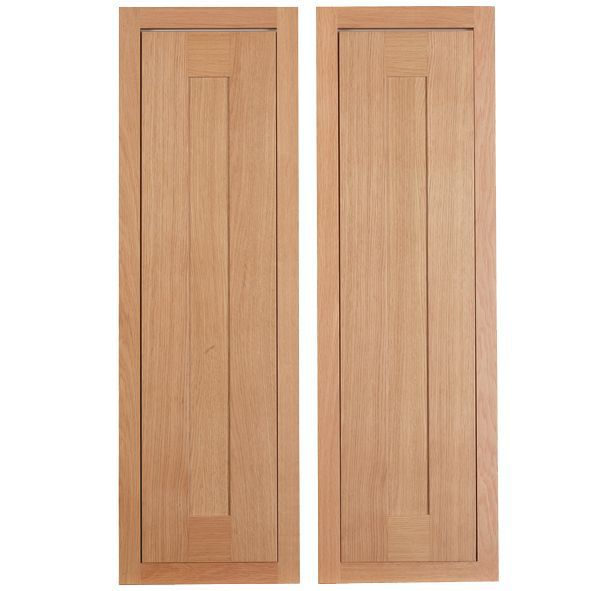 Cooke & Lewis Carisbrooke Oak Framed Larder Door (w)300mm, Set Of 2