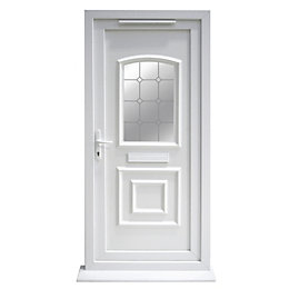 Ashgrove White PVCu Glazed External Front Door &