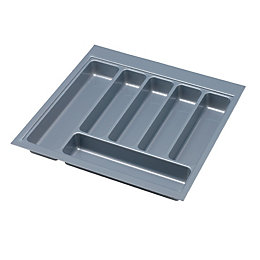 IT Kitchens Grey Plastic Kitchen Utensil Tray