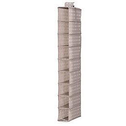 Compactor Home Rivoli Taupe Fabric Hanging Storage