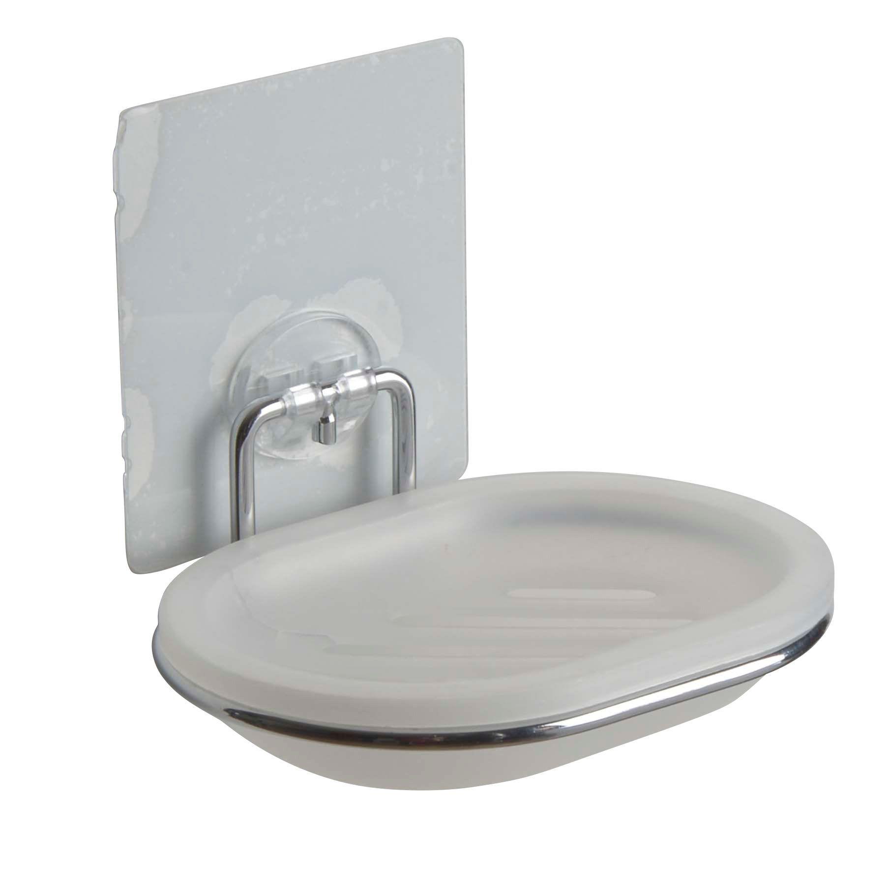 Bath Chrome Effect Wall Mounted Soap Dish