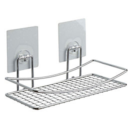 Bath Chrome Effect Bathroom Shelf (L)250mm