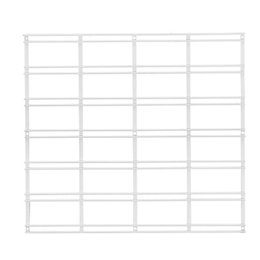 Walltech Laundry Wall Mountable White Metal Grid (W)53.4cm