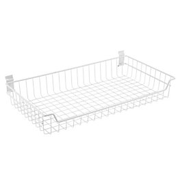 Walltech Laundry Wall Mountable White Metal Basket (W)69.5cm