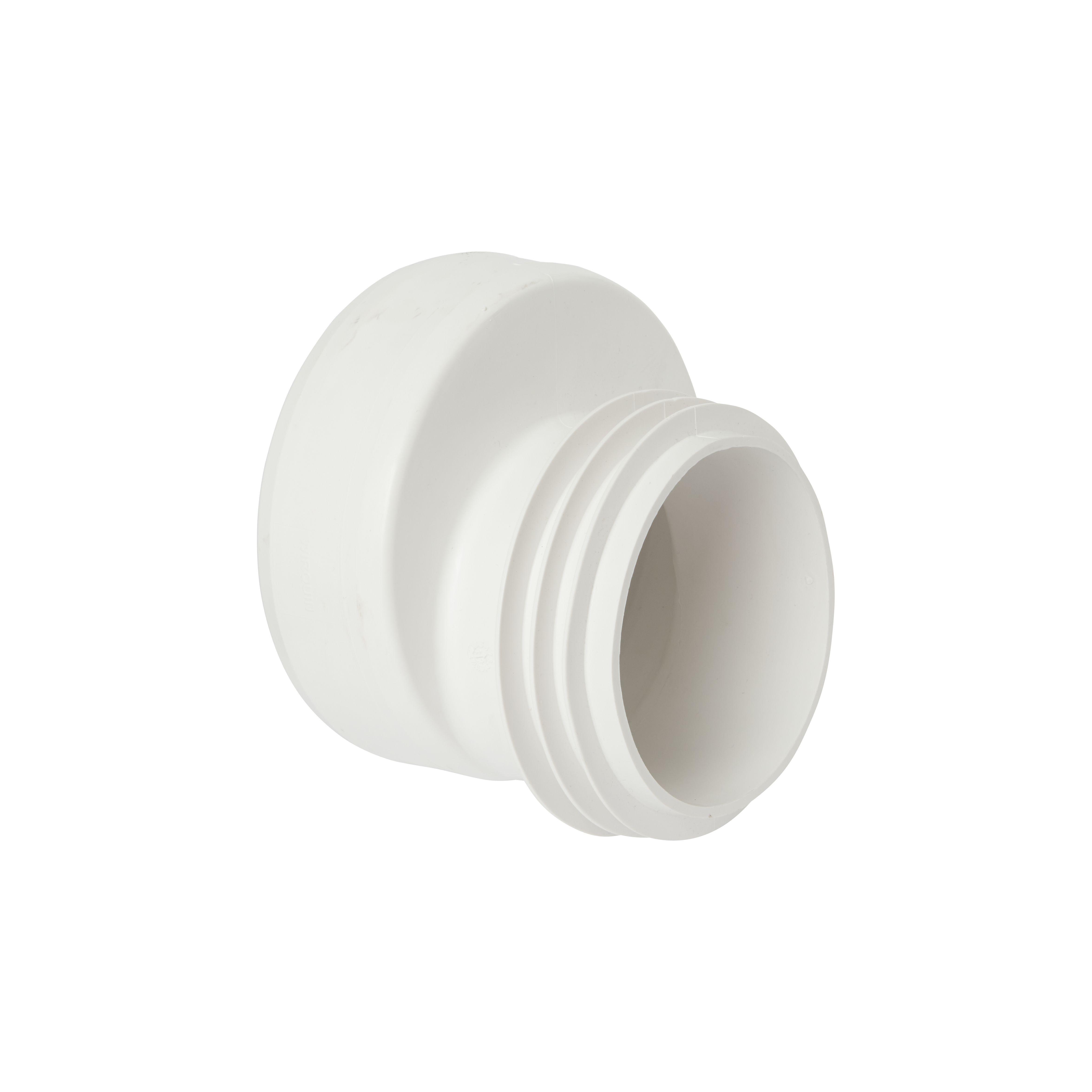 Wirquin push fit offset pan connector dia 110mm departments diy at b q - Changer un joint de wc ...