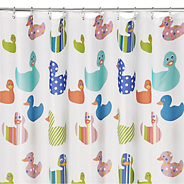 Multicolour Pepo Ducks Shower Curtain (L)2 M