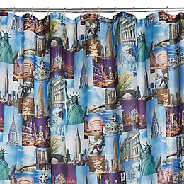 Multicolour Nyc Shower Curtain (L)2 M