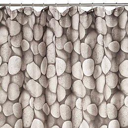 Grey Pebble Shower Curtain (L)2 M