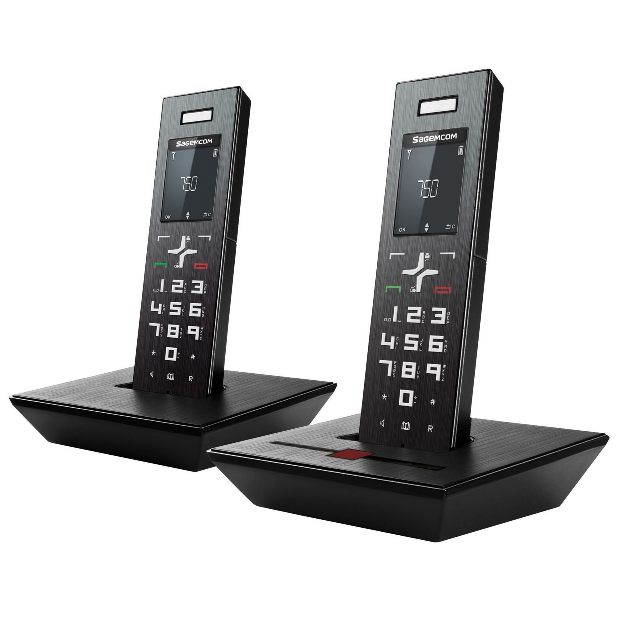 Sagemcom Cordless Digital Telephone With Answering Machine - Twin Handset